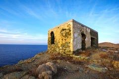 Maison en pierre retranchée Photo libre de droits