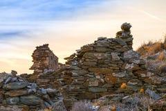 Maison en pierre retranchée Image libre de droits