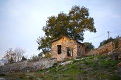 Maison en pierre retranchée Images libres de droits