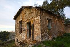 Maison en pierre retranchée Photographie stock