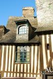 Maison encadrée de bois de construction de Brittany, Vitré, France Photo stock