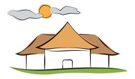 Maison ensoleillée illustration de vecteur