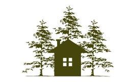 Maison et Cedar Tree illustration stock