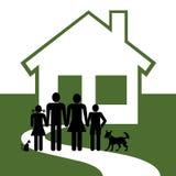 Maison et famille illustration de vecteur