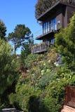 Maison et jardin urbains parfaits de type de prairie Photo libre de droits