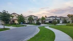 Maison et route de la Floride Photos stock
