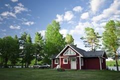 Maison et véhicules de camping Photographie stock libre de droits
