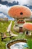 Maison féerique (champignon) Photos stock