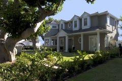 Maison faite sur commande en plage de Newport, CA Photographie stock libre de droits