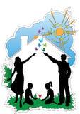 Maison familiale Image libre de droits