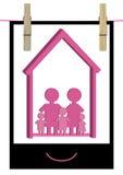 Maison familiale heureuse Photo_eps Photographie stock libre de droits