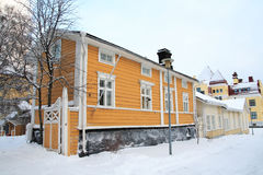 Maison finlandaise en bois Image stock