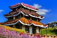Maison florale dans le style de pagoda Photo stock