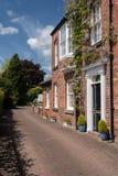 Maison géorgienne par le parc de ville dans Oswestry Shropshire Images libres de droits