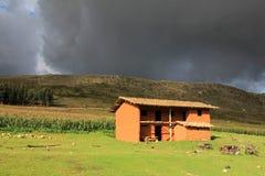 Maison gentille Pérou du nord de brique d'adobe Images libres de droits