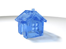 Maison glaciale Photos stock