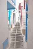Maison grecque traditionnelle sur l'île de Mykonos photos libres de droits