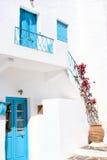 Maison grecque traditionnelle sur l'île de Sifnos Image stock