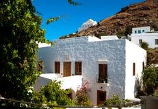 Maison grecque traditionnelle sur l'île de Sifnos Photo stock