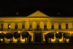Maison historique à Budapest la nuit hungary image stock