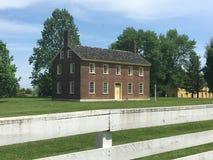 Maison historique de brique rouge Images stock