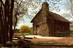 Maison historique de logarithme naturel photographie stock