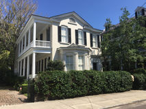 Maison historique sur la rue de Tradd, Charleston, Sc Image stock
