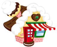 Maison illustrée de sucre Photo stock