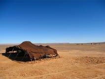 Maison indigène dans le désert Photo stock