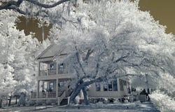 Maison infrarouge Photos stock