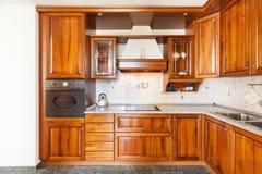 Maison intérieure, cuisine domestique images libres de droits
