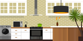 Maison intérieure de meubles de cuisine Photos stock