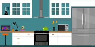 Maison intérieure de meubles de cuisine Image libre de droits