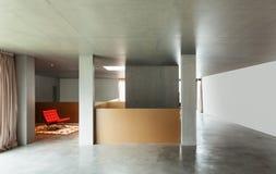 Maison intérieure, mur en béton Images stock