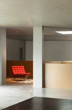 Maison intérieure, mur en béton Image stock
