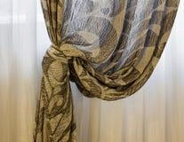 Maison intérieure, rideau photo stock