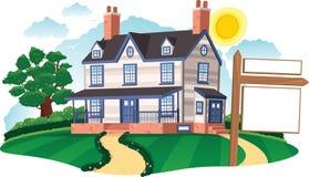 Maison isolée Image libre de droits