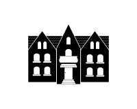 Maison isolée image stock