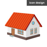 Maison isométrique d'icône illustration de vecteur