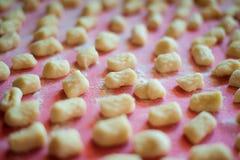 Maison italienne de gnocchi de pomme de terre faite Photos libres de droits