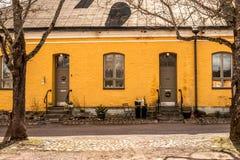Maison jaune Image libre de droits