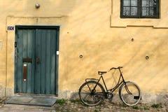 Maison jaune Photo stock