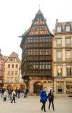 Maison Kammerzell историческое здание на месте Du марте в страсбурге alsace Франция стоковые изображения