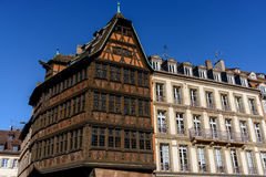 Maison Kammerzell historical building on Place Du March in Strasbourg. Alsace, France Stock Photo