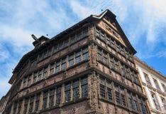 Maison Kammerzell på stället Du Marschera i Strasbourg royaltyfri foto