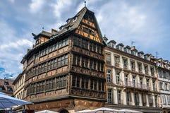 Maison Kammerzell på stället Du Marschera i Strasbourg royaltyfri fotografi