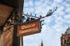 Maison Kammerzell on Place Du March in Strasbourg Stock Photos