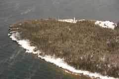 Maison légère d'île de diables image libre de droits