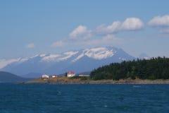 Maison légère de l'Alaska Photographie stock libre de droits