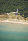 Maison légère de plage de point photographie stock libre de droits